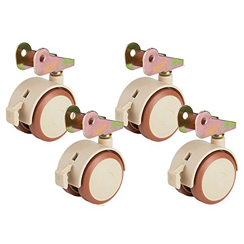 Flashing lights F- 47mm Crib Caster Splint zwenkwiel Flip Brake Wheel kinderbed accessoires Wheel Mute Pulley, 4 stuks