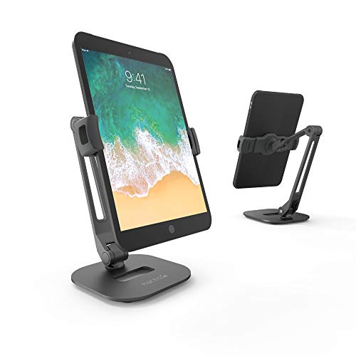 Clamp /& Grommet Compatible Fully Adjustable with Cable Management Kanto DM2032 Dual Monitor Desktop Arm Mount for 20 to 32 Monitors