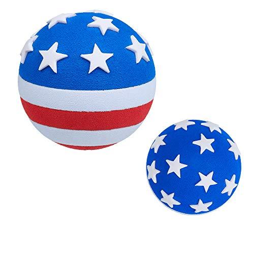 Tenna Tops USA Patriotic American Flag Car Antenna Topper Ball / Auto Mirror Dangler / Desktop Bobble Buddy