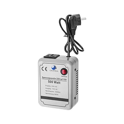 220V auf 110V Spannungswandler Transformator Wandler Umwandler Converter 230V AC (500W)