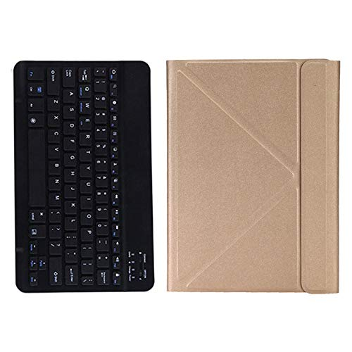 Fransande - Funda para tablet y teclado inalámbrico para Teclast P20HD M40 ALLDOCUBE IPlay20 / Pro para 9,7-10,4 pulgadas, color dorado