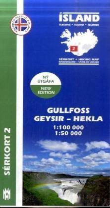 Gullfoss - Geysir - Hekla 1 : 100 000
