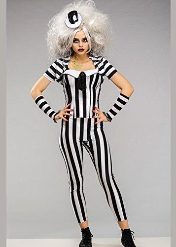 Magic Box Damen Halloween Korsett Beetlejuice Kostüm S (UK 8-10)