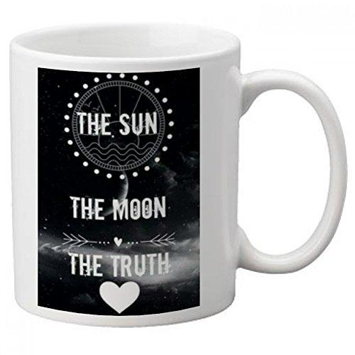 FS-Tasse mit englischsprachige Aufschrift: Teen Wolf The Sun The Moon The Truth (die Sonne, Mond, die Wahrheit)