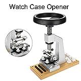 AYNEFY Uhr Presse,Uhr Presse Uhrwerkzeug Uhrengehäuse 5700 Bench Watch Gehäuseöffner Armbanduhr Werkzeug Rückenöffner mit 6 Matrizen für Rolex