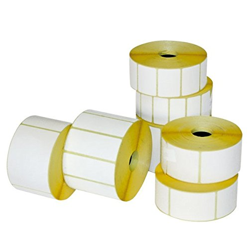 Etiketten van papier en thermische transfer, Ø 25 mm, 100 x 100 mm, Wit, 1