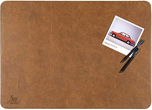 Centaur - Hochwertige Schreibtischunterlage Leder 40 x 60cm cognac/vintage für Bürotisch - handgefertigte Schreibunterlage aus Leder - Edel Schreibtisch Unterlage