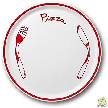 Piatto pizza rosso/ /D 31/cm/ /NAPOLI