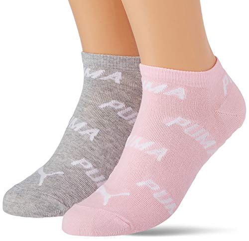 PUMA Unisex-Adult BWT Sneaker-Trainer (2 Pack) Socks, Rose Water, 39/42