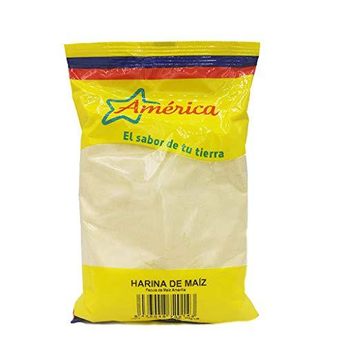 América - El sabor de su Tierra - Harina de Maíz - Harina de Maíz Amarillo - Origen España - 500 Gramos