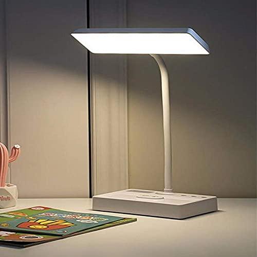 QXXKJDS Lámparas de Mesa Lámpara De Escritorio LED, Lámpara De Aprendizaje De Lectura De Atenuación Continua De 3 Colores Regulable Y Táctil Recargable por USB, 2400 Mah