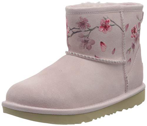 UGG Australia Mädchen Classic Mini Blossom Mode-Stiefel, Muschelrosa, 35 EU