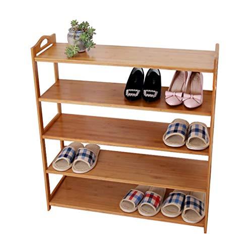ZZYE Zapatero Rack de Zapatos de bambú 5 Organizador de Nivel estantes Pasillo apilable Torre de Almacenamiento de Madera a Prueba de Polvo (50 cm, 60 cm, 68 cm, 78 cm) Perchero Zapatero