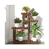 QTWW Soporte para Plantas con Pedestal de Madera de Varios Niveles, Estilo Molino de Viento, Soporte para macetas, Estante de exhibición para jardín Interior al Aire Libre (tamaño: 4 Niveles)