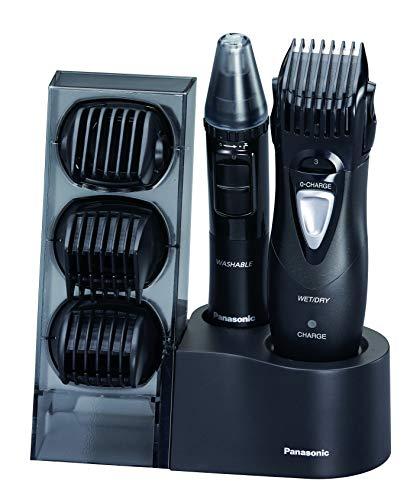 Panasonic ER-GY10CM504 - Multi Kit 7 en 1 Cortapelos, Recortadora y Afeitadora corporal y Facial (Wet&Dry, 5 Longitud, Peine de aseo Axilas, Cargador de Inducción, Compatible con Pilas) Negro