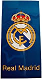 Real Madrid RM171103. Toalla de baño y Playa de Algodón 100% de 70x140 cm. Licencia Oficial.