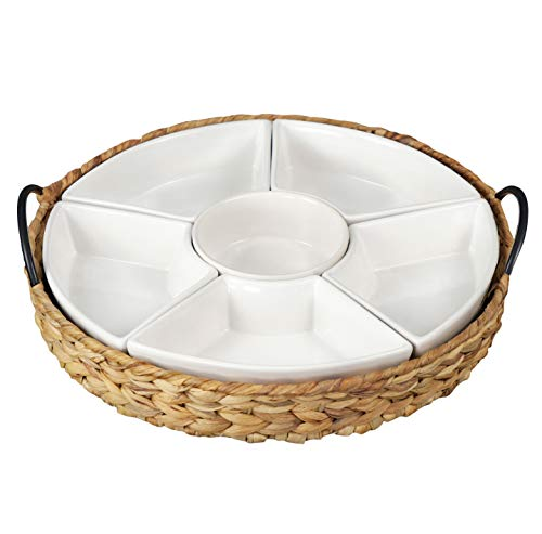Serving Platter With 6 Removable Dishes