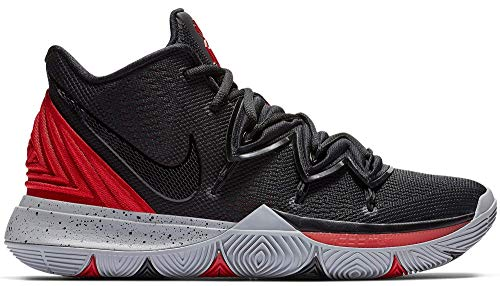 Nike Men's Kyrie 5 Basketball Shoes (12, Black/Red)