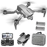 JJDSN Drones 90deg;Cámara ESC, Drone con cámara para Adultos 4K HD, Quadcopter con cardán mecánico de 2 Ejes, Quadcopter RC con posicionamiento satelital GPS de helicóptero, 1200m de Distancia de