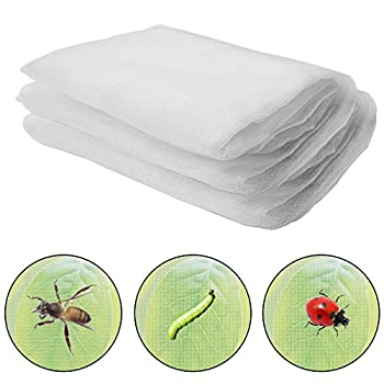Alpurple Insect Bird Barrier Netting Mesh-20 x 6.5 Feet Garden Bug Netting Plant Cover for Protect Plant Fruits Flower from Insect Bird Eating