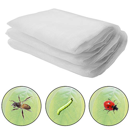 Alpurple Insect Bird Barrier Netting Mesh-15 x 10 Feet Garden Bug Netting Plant Cover for Protect Plant Fruits Flower from Insect Bird Eating