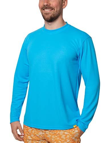 iQ-UV Herren 50+ Sonnenschutz mit Rundhals, Regular Geschnitten T-Shirt Langarm Uv, hawaii, L/52
