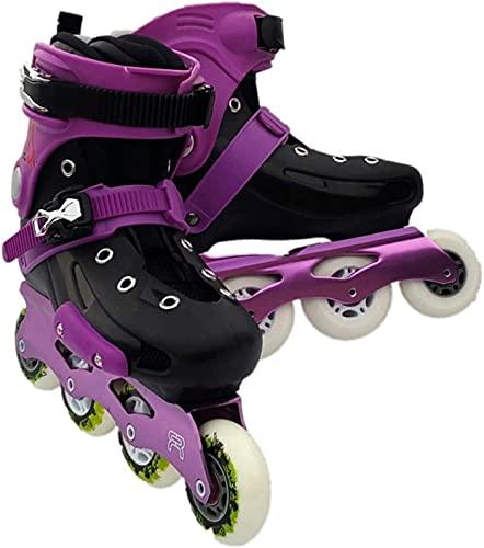 Patines para adultos al aire libre para adultos en línea patines unisex unisex fitness principiante rodillo patines al aire libre rodillo interior patines en línea para mujeres y hombres, blanco negro