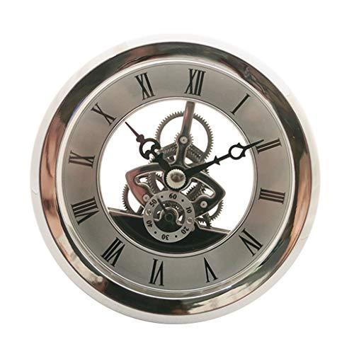 Dailymall - Reloj de Esqueleto (103 mm de diámetro, Cuarzo), Color Plateado
