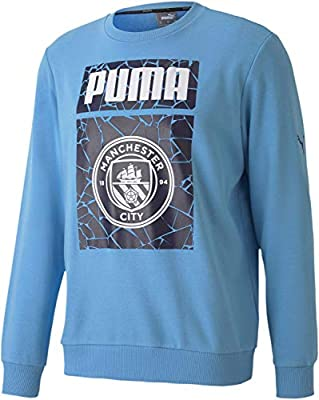 World Cup Soccer MANCHESTER CITY Mens MANCHESTER CITY FTBLCORE GRAPHIC SWEATER, Team Light Blue-Peacoat, S