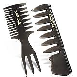 Peigne de à Dents Larges Fait à la Main Anti-Statique Peigne pour hommes, style de brosse à cheveux CombSet Vintage Style Antistatic