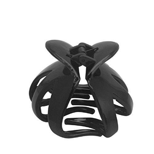 Lunji Crabe Pince à Cheveux Femme Plastique, Accessoires de Coiffure 7 x 7 x 4.5cm (Noir)