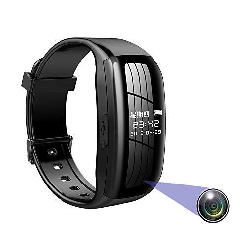 YSYSZYN Überwachungskamera, Mini-Kamera-Spion, Spionage-Kit, Spionage-Kamera-Uhr, HD 1080P-Kompaktkamera und tragbares Gerät, mit TF-Karte-32G