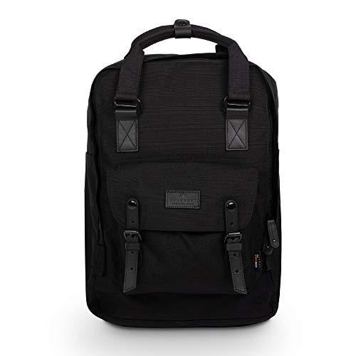 Doughnut Macaroon Large 18L Travel School Ladies College Girls Lightweight Casual Daypacks Bag Backpack Black