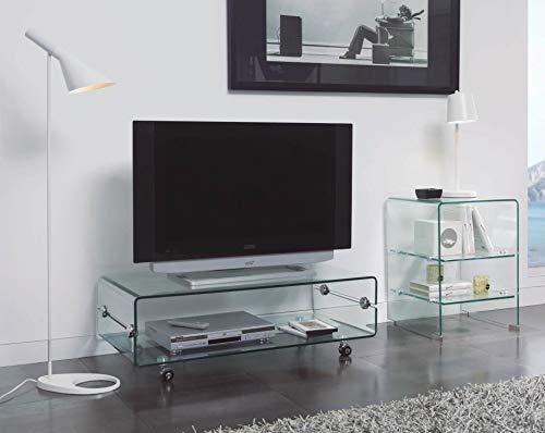 Mesas de Televisión de Cristal : Modelo BILBO de 100x35x50