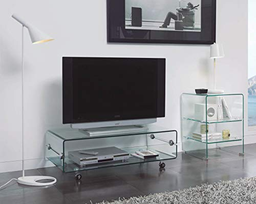 mesas tv cristal