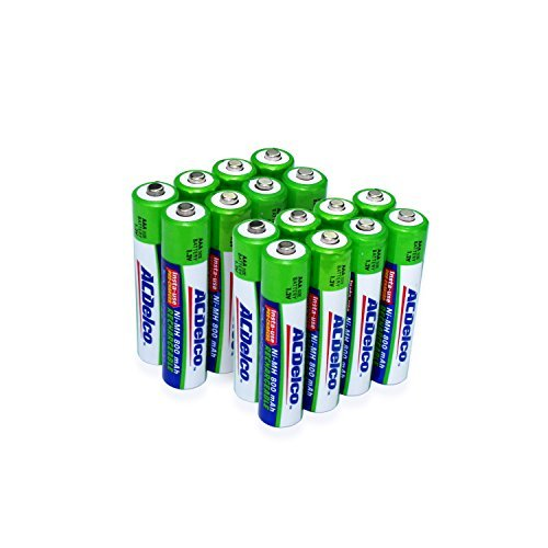 Powermax USA ACDelco AAA Insta-Use Rechargeable Batteries, Precharged, 16 Count