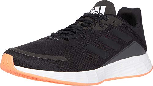 adidas mens Duramo Superlite Running Shoe, Black/Black/Grey, 11.5 US