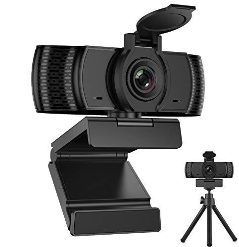 BENEWY Webcam para PC con micrófono Full HD 1080P Webcam USB para PC fijo, ordenador portátil y Mac, USB 2.0 Videocámara para Videollamadas, Estudio, Conferencia, Grabación, Juegos y Trabajo e