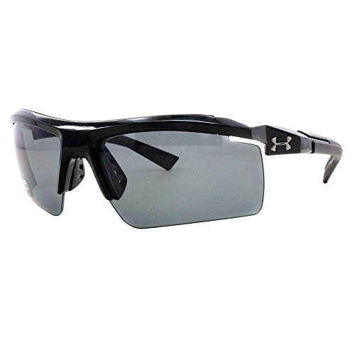 Under Armour Sunglasses Rectangular, UA CORE 2.0 Storm (ANSI) Shiny Black Frame/Gray Polarized Lens, L/XL