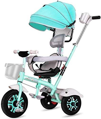 Pushchairs Kindertrikes 4-in-1 ouderduwen driewieler voor kinderen verstelbare stoel met luifel duwhandvat groei-met hoofd voor 1-6 jaar Ouderen driewielers peuter fiets peuter baby producten