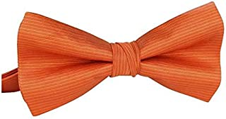 orange stripe bow tie Shirt Box-packed orange bowknot Bridegroom Business Show for male