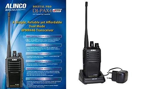 DJPAX4D ALINCO Walkie Uso Libre PMR Digital/Analogico PMR 446, Compatible con Kenwood...