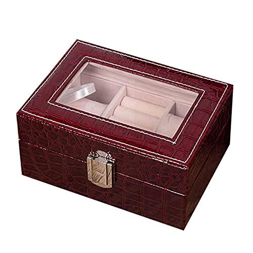 Leyeet Caja de almacenamiento de reloj Caja de exhibición Organizador de joyería titular de almacenamiento de moda diseño buena decoración