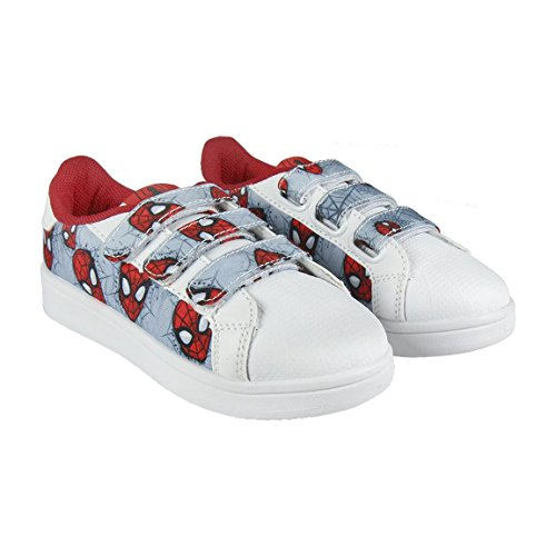 Spiderman S0712301, Zapatillas, Gris Blanco, 28 EU