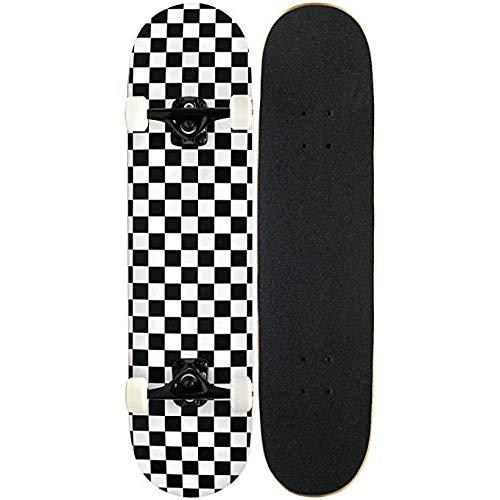 JSYCD Skateboard, Skateboard PRO Completa, 7 Strati Canadese Maple Deck Skateboard di Extreme Sport e all'aperto