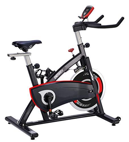 ONETWOFIT Heimtrainer,Fitnessfahrrad,Cardio Spinning Bike mit verstellbarem Lenker & Sattel,LCD Display Multifunktions-Anzeige für Zuhause OT319