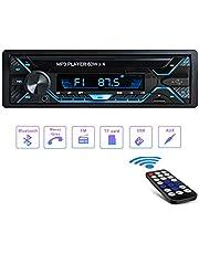 Tobetree 4x60W Autoradio Bluetooth Vivavoce, 1 Din Auto Radio Stereo con Telecomando 12V Ricevitore Radio, Auto Mp3 Player Supporto iOS/Android/WAV/WMA/FM/AM, Porte USB/TF/AUX