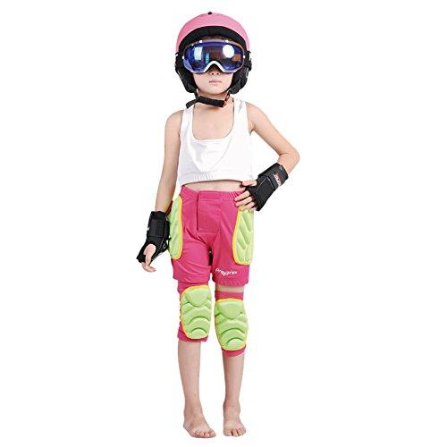 CHIC-Kinder Schutzausrüstung Skater Padded Shorts Fahrradhose Unterwäsche Shutz Ski Warm 3-8 Jahre (Rosa, XXXS)