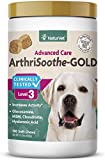 NaturVet ArthriSoothe-Gold Level 3 Advanced Joint Care for Dogs – Soft Chew Dog Supplement with Glucosamine, MSM, Chondroitin & Hyaluronic Acid – Wheat-Free Pet Supplements – 180 Ct.