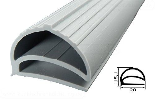 Profildichtung - Profil 158 - 2000mm - Farbe: Grau (Kühlschrankdichtung)